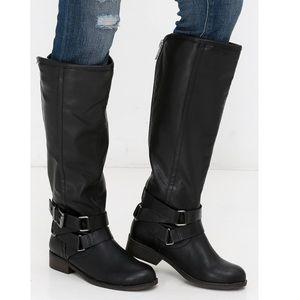Madden Girl Corporel Black Knee-High Boots